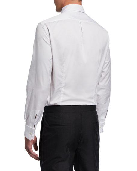 Brunello Cucinelli Men's Pleated-Bib Tuxedo Shirt