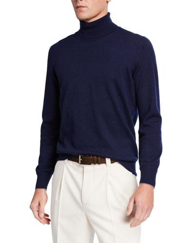 Men's Cashmere Turtleneck Sweater
