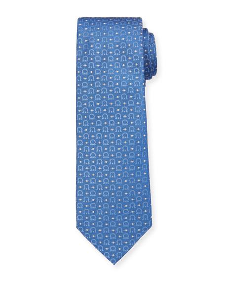 Salvatore Ferragamo Louis Gancini & Dot Tie, Blue