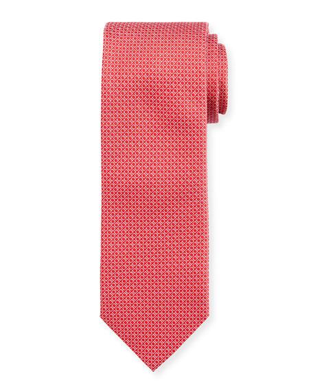 Salvatore Ferragamo Licata Gancini Brocade Tie, Red