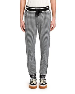 b219098ad312 Dolce & Gabbana Men's Houndstooth Logo Track Pants