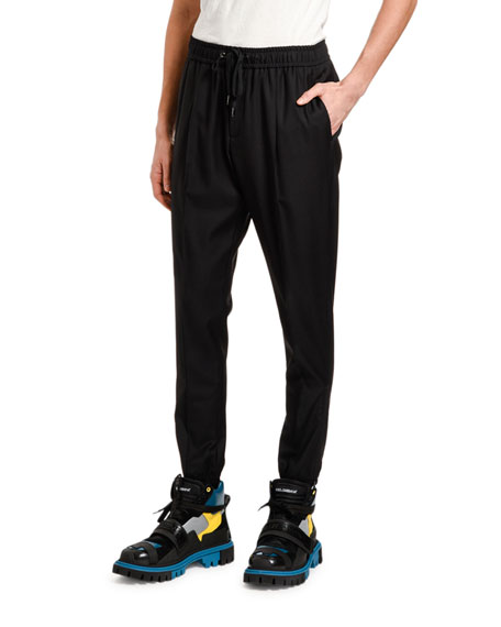Dolce & Gabbana Men's Wool Jogger Pants