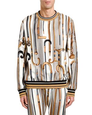f6c1732274fb Dolce & Gabbana Men's Canes Silk Sweatshirt
