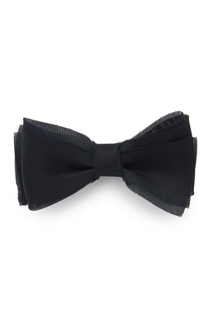 MENS VELVET CREAM BOW TIE Pretied Adjustable White Wedding Formal Ivory Suede