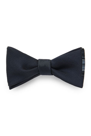 Title of Work Men's Bugle Beaded-Edge Bow Tie