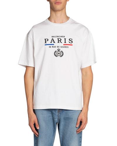 Men's Paris Flag Crewneck T-Shirt
