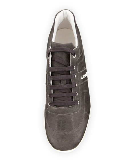 a.testoni Men's Leather Trainer Sneakers