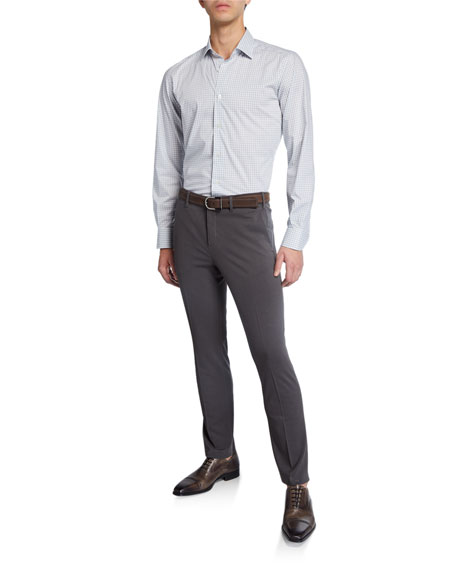 Neiman Marcus Men's Solid Knitted Chino Pants