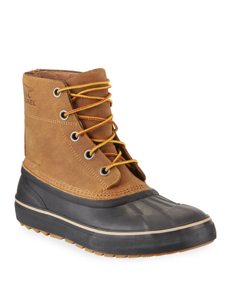 Sorel Men's Cheyanne Metro Waterproof Lace-Up Duck Boots