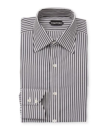 TOM FORD Men's Classic-Collar Striped Dress Shirt