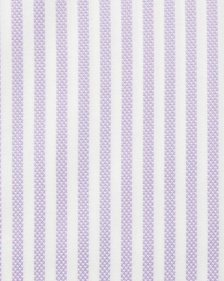 TOM FORD Men's Classic Small-Collar Striped Herringbone Dress Shirt