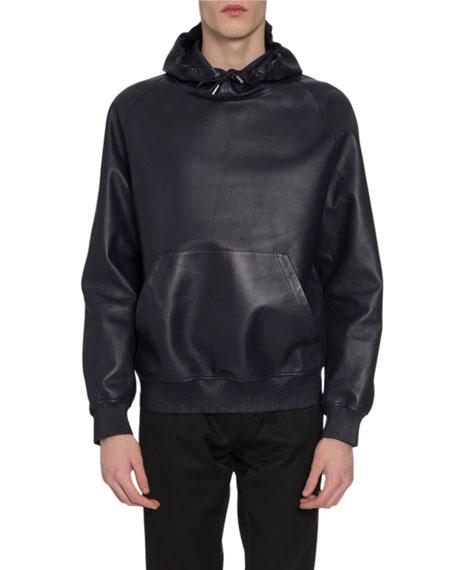 Berluti Men's Leather Sweatshirt