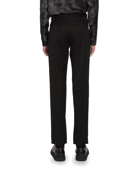 Berluti Men's Pinstripe Straight-Leg Wool Trousers