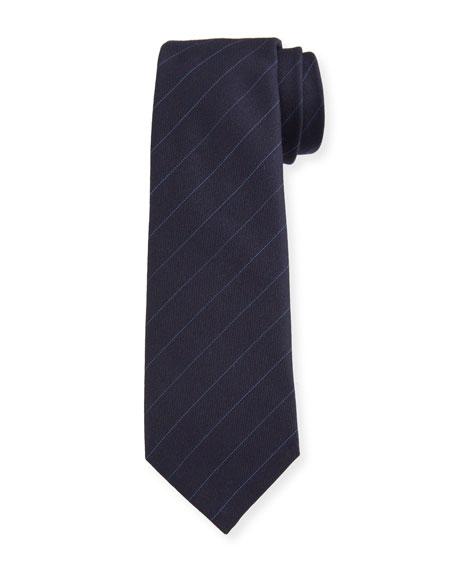 Berluti Men's Striped Wool Tie