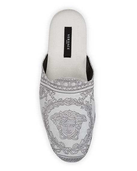 Versace Men's I Heart Baroque Cotton Slippers