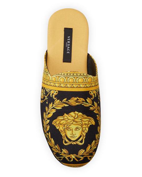 Barocco Silk Robe Slippers