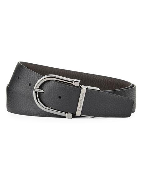 Ermenegildo Zegna Men's Reversible Grained Leather Belt
