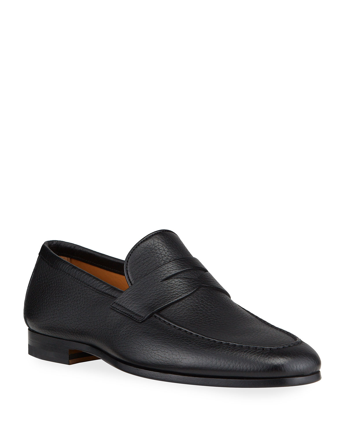 Magnanni for Neiman Marcus Men's Super Flex Leather Penny Loafers