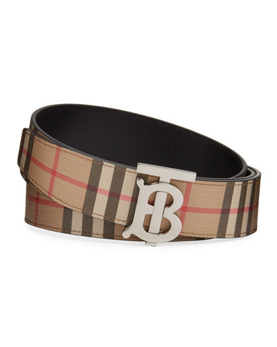 Men's TB Vintage Check Belt