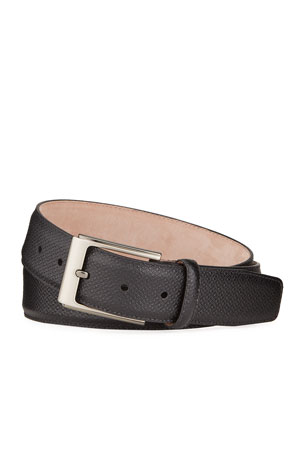 Magnanni for Neiman Marcus Men's Grabcot Leather Belt