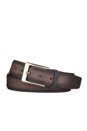 Magnanni for Neiman Marcus Men's Antidifu Suede Belt