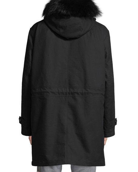 Moncler Men's Talence Fur-Trim Hooded Jacket