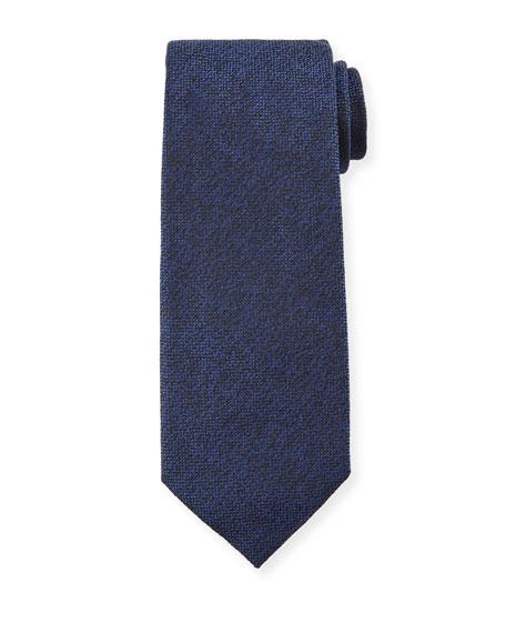 TOM FORD 8cm Textured Silk Tie, Blue