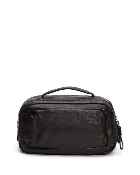 Frye Men's Murray Leather Travel Toiletry Case