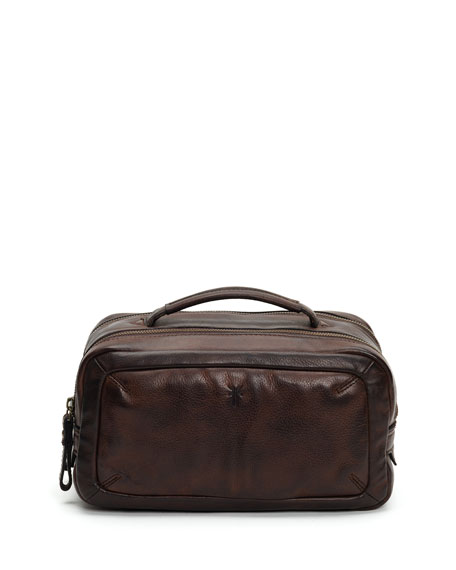 Frye Travel Men's Murray Leather Travel Toiletry Case