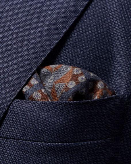 Eton Men's Reversible-Pattern Wool Pocket Square