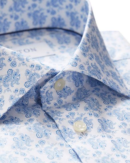 Eton Men's Slim Fit Cotton Floral-Print Dress Shirt