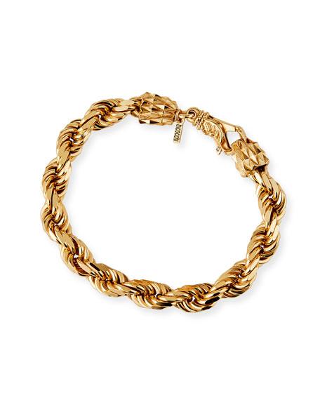 Emanuele Bicocchi Men's French Rope Chain Bracelet, Golden