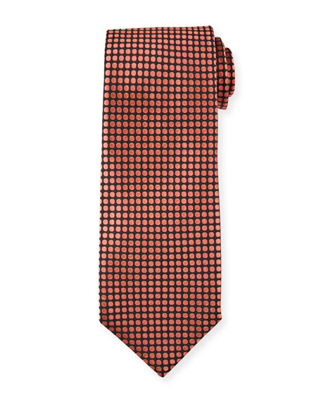 TOM FORD Men's Tonal Dots 8cm Tie, Pink