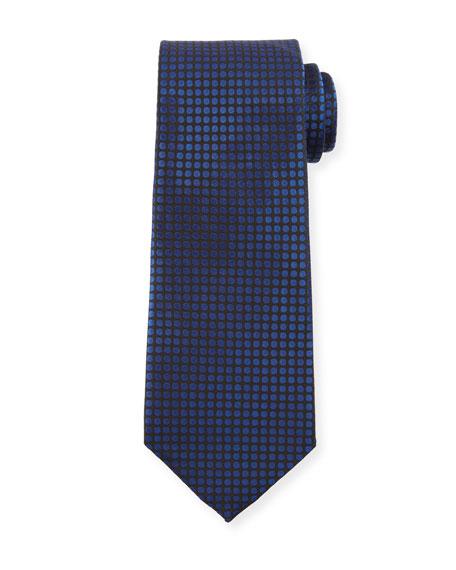 TOM FORD Men's Tonal Dots 8cm Tie, Blue