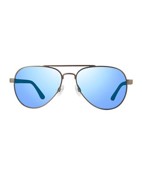 Revo Men's Raconteur Polarized Metal Aviator Sunglasses, Gunmetal