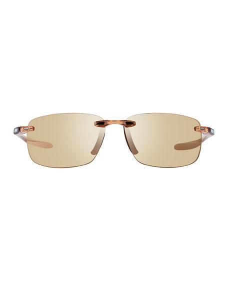 Revo Men's Descend Polarized Rimless MotionFit Sunglasses, Blush