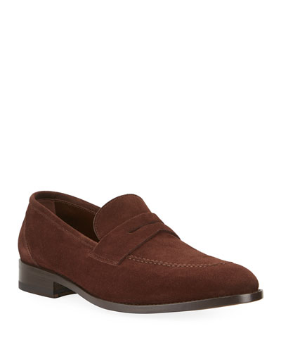 Men's George Suede Penny Loafers