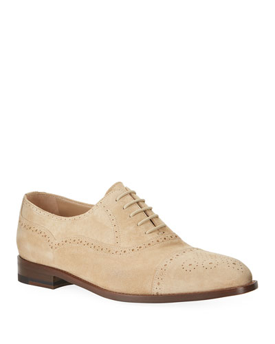 Men's Witney Brogue Suede Oxford Shoes