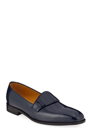 Manolo Blahnik Men's Brumelius Patent Leather Loafers