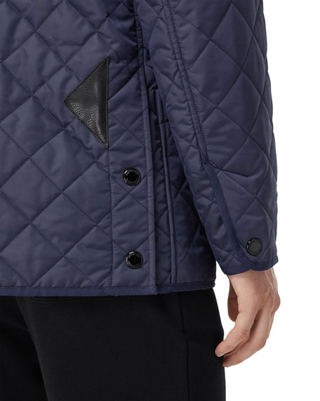 Burberry Men's Cotswold Quilted Car Coat