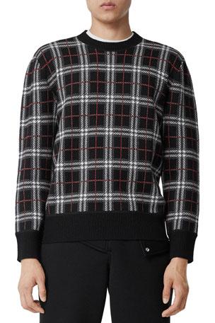 Burberry Men's Merino Check Sweater