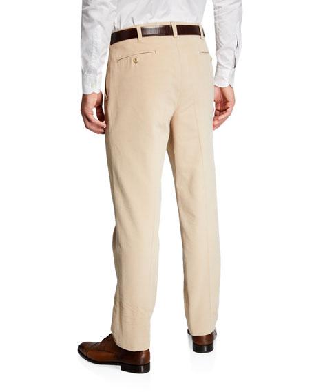 Ambrosi Napoli Men's Flat-Front Twill Pants