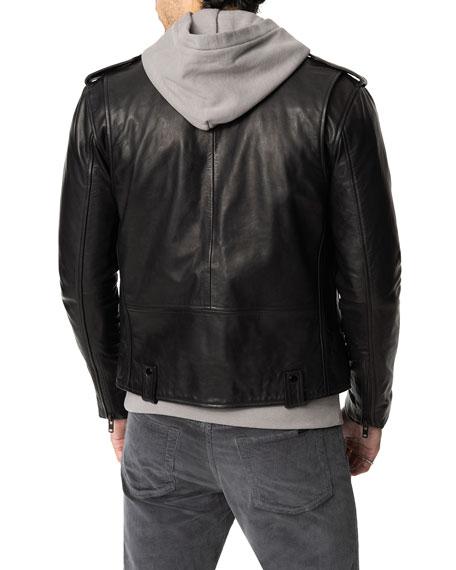 Joe's Jeans Men's Slim-Fit Leather Moto Jacket