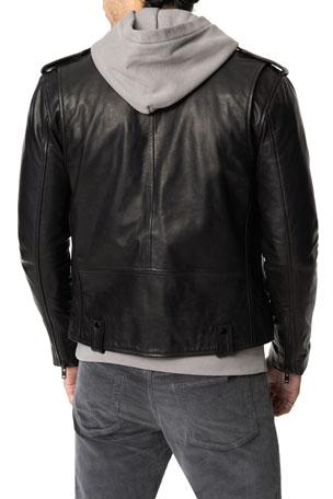 Hudson Black Men/'s Smart Casual Style Designer Real Soft Lambskin Leather Jacket