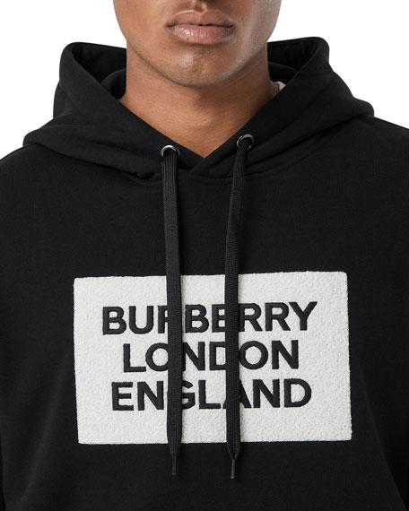 Burberry Men's Logo Typographic Pullover Hoodie