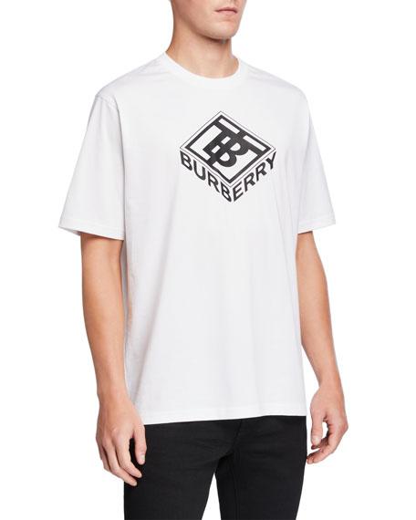 Burberry Men's Diamond Logo Graphic T-Shirt