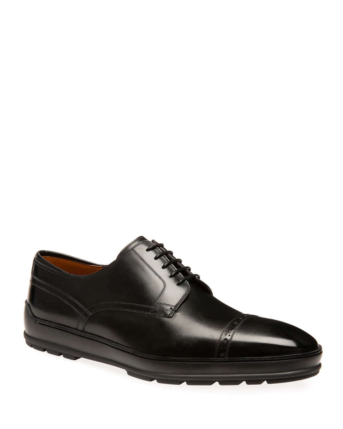 Men's Reigan Leather Derby Sneakers by Bally