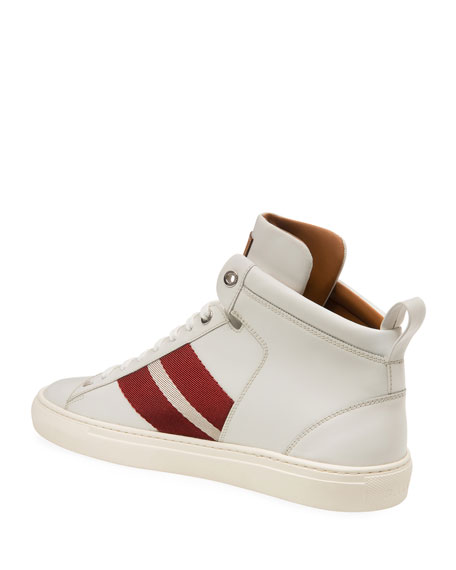 Bally Men's Hedern Trainspotting High-Top Leather Sneakers