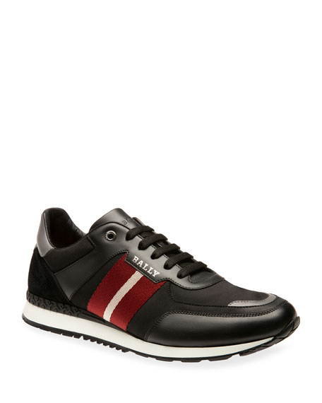 Bally Men's Aseo Trainspotting Leather Sneakers