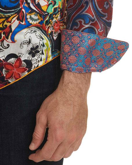 Robert Graham Men's The Conway Paisley Graphic Sport Shirt